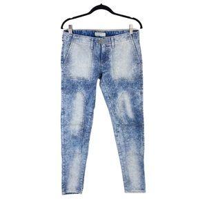 Inked & Faded Acid Wash Skinny Jeans Size 6